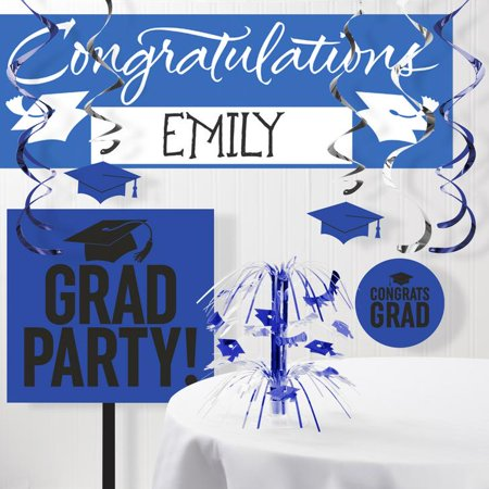 Blue Graduation School Spirit Decoration Kit (Graduations Decorations)