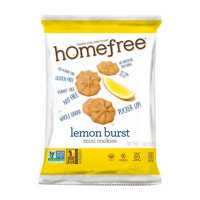 Homefree LGFMLC30 Gluten Free Lemon Burst Mini Cookies Single Serve 30/1 oz. Bags