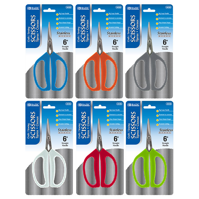 Multipurpose Stainless Steel Scissors Case Pack of 24