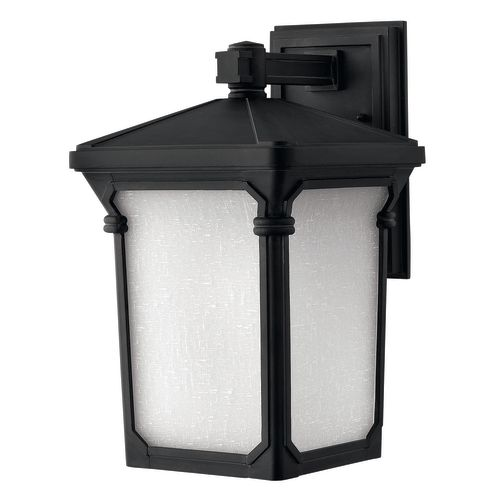 "Hinkley Lighting 1354 16"" High 1-Light Lantern Outdoor Wall Sconce in Museum Black from the Stratford Collection"