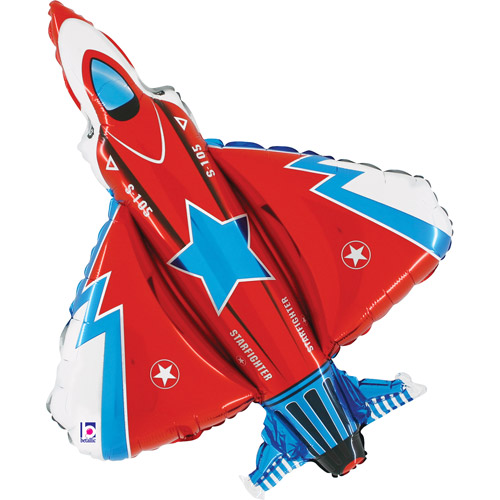 Fighter Jet Shaped Mylar Balloon