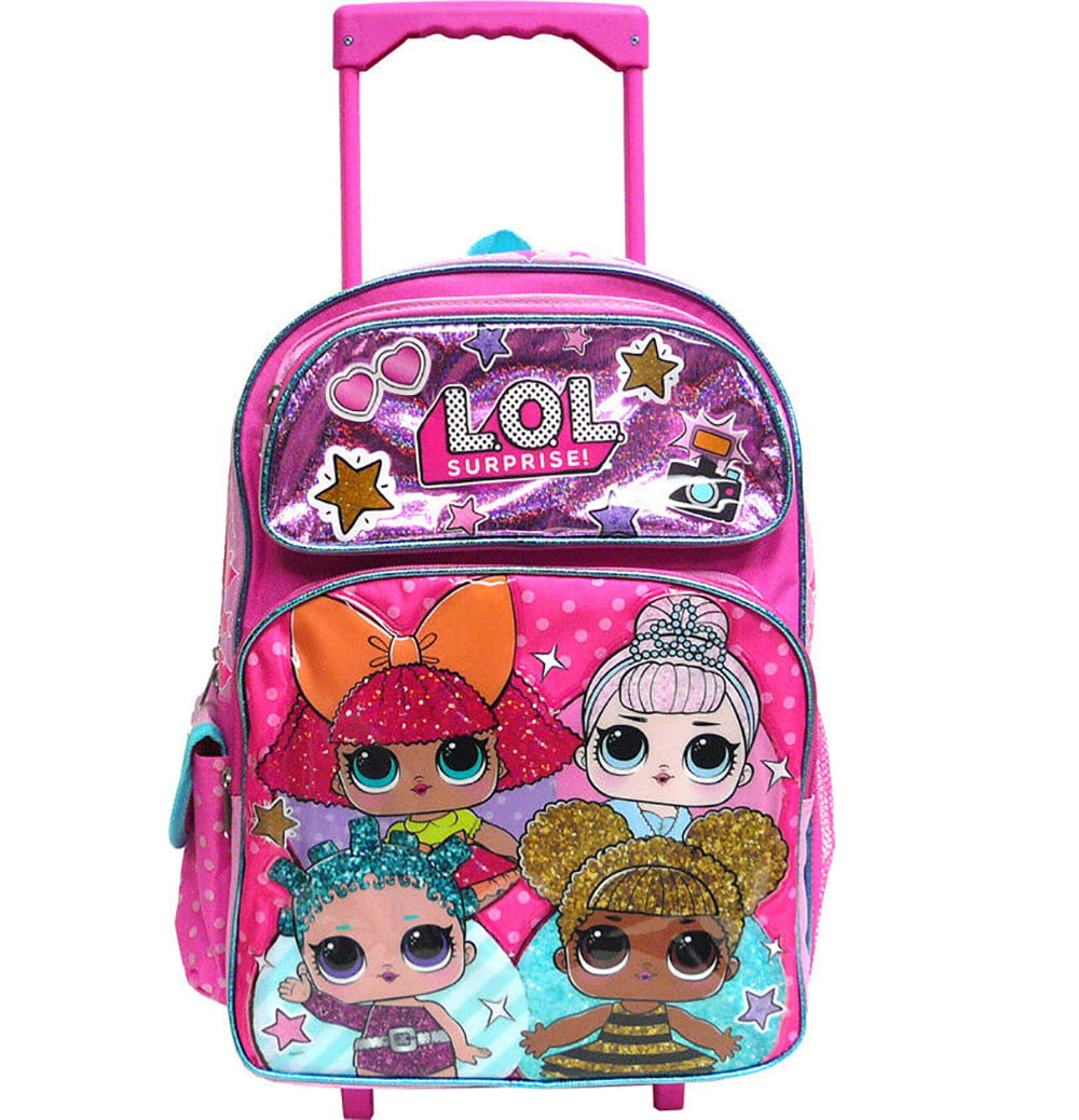 """LOL SURPRISE GIRL BACKPACK 16/"""" LARGE GIRLS GIFT BIRTHDAY GIFT CANVAS PINK"""