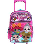 "L.O.L Surprise! Large School Rolling Backpack 16"" Girls Bag Pink LOL Bag Purple"