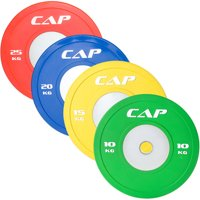 CAP Barbell Olympic Competition Rubber Bumper Plate w Steel Hub, 10-25 KG (Single)