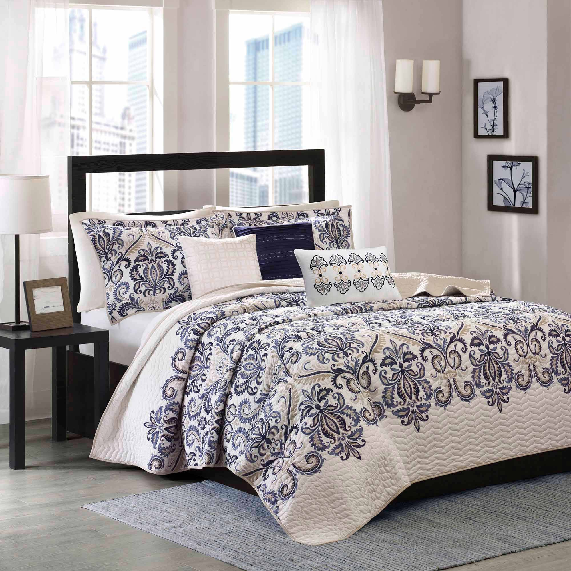 Home Essence Cascade 6-Piece Quilted Coverlet Set