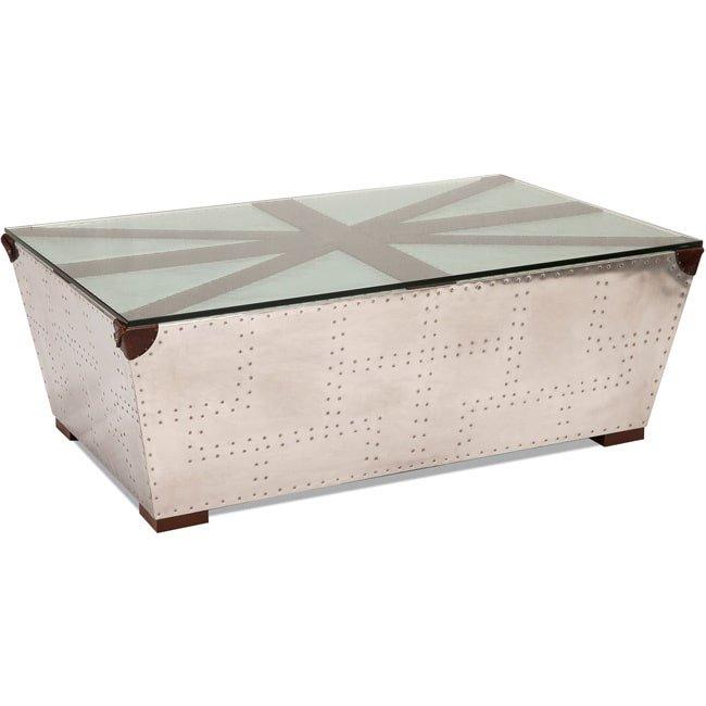Genial Aurelle Home Silver Trunk Coffee Table   Walmart.com