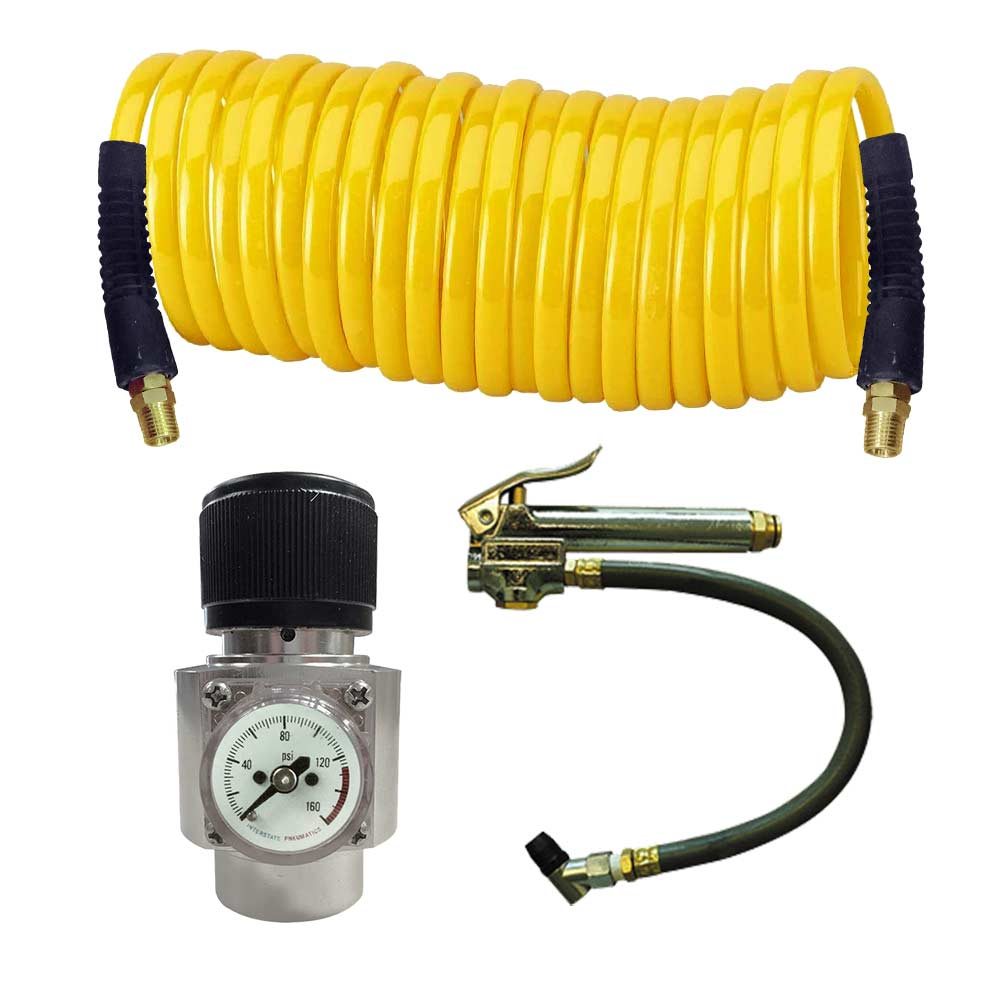 Interstate PneumaticsWRCO2-TFCO2 Regulator, Recoil Hose & Tire Inflator Kit