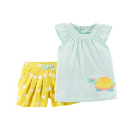 Baby Girl Tank Tank & Shorts, 2pc Outfit Set - Mime Outfit