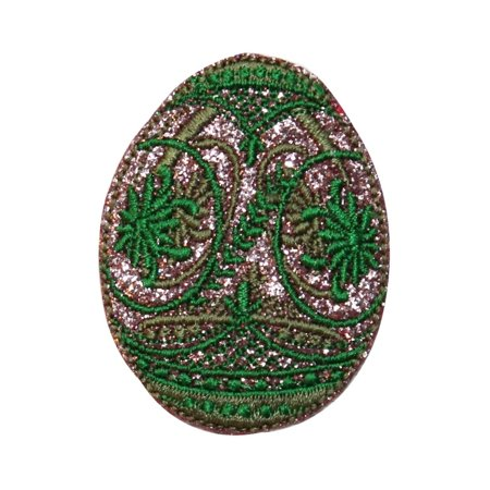ID 3342 Faberge Easter Egg Patch Decorative Jeweled Embroidered Iron On Applique ()