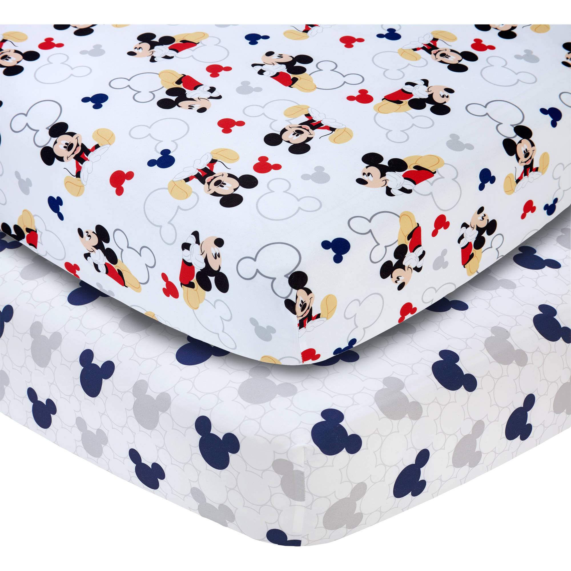 Disney Let's Go Mickey II Set of 2 Crib Sheets