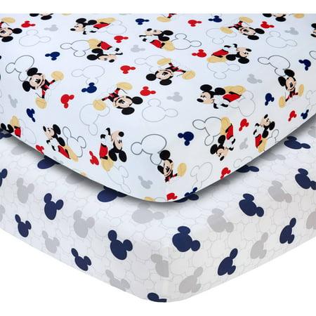 Disney Lets Go Mickey Ii Set Of 2 Crib Sheets