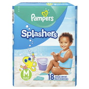 Pampers Splashers Snug Fit Swim Diapers (Choose Size & Count)