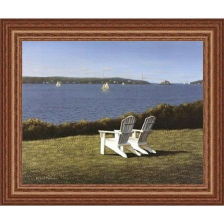 Framed Narragansett Bay By Daniel Pollera 14X11 Art Print Poster Coastal Seacoast Beach Ocean