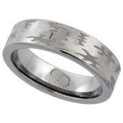 6mm tungsten 900 camouflage wedding ring comfort fit sizes 5 11 - White Camo Wedding Rings