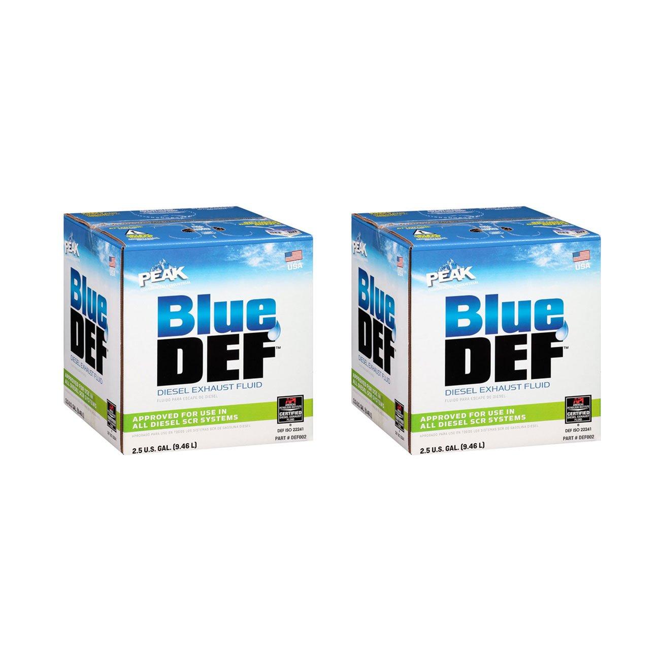 BlueDEF Diesel Exhaust Fluid Synthetic Urea Deionized Water 2.5 Gallon (2 Pack)