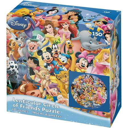 Friends Lenticular Puzzles - Disney Circle of Friends Lenticular 150-Piece Puzzle