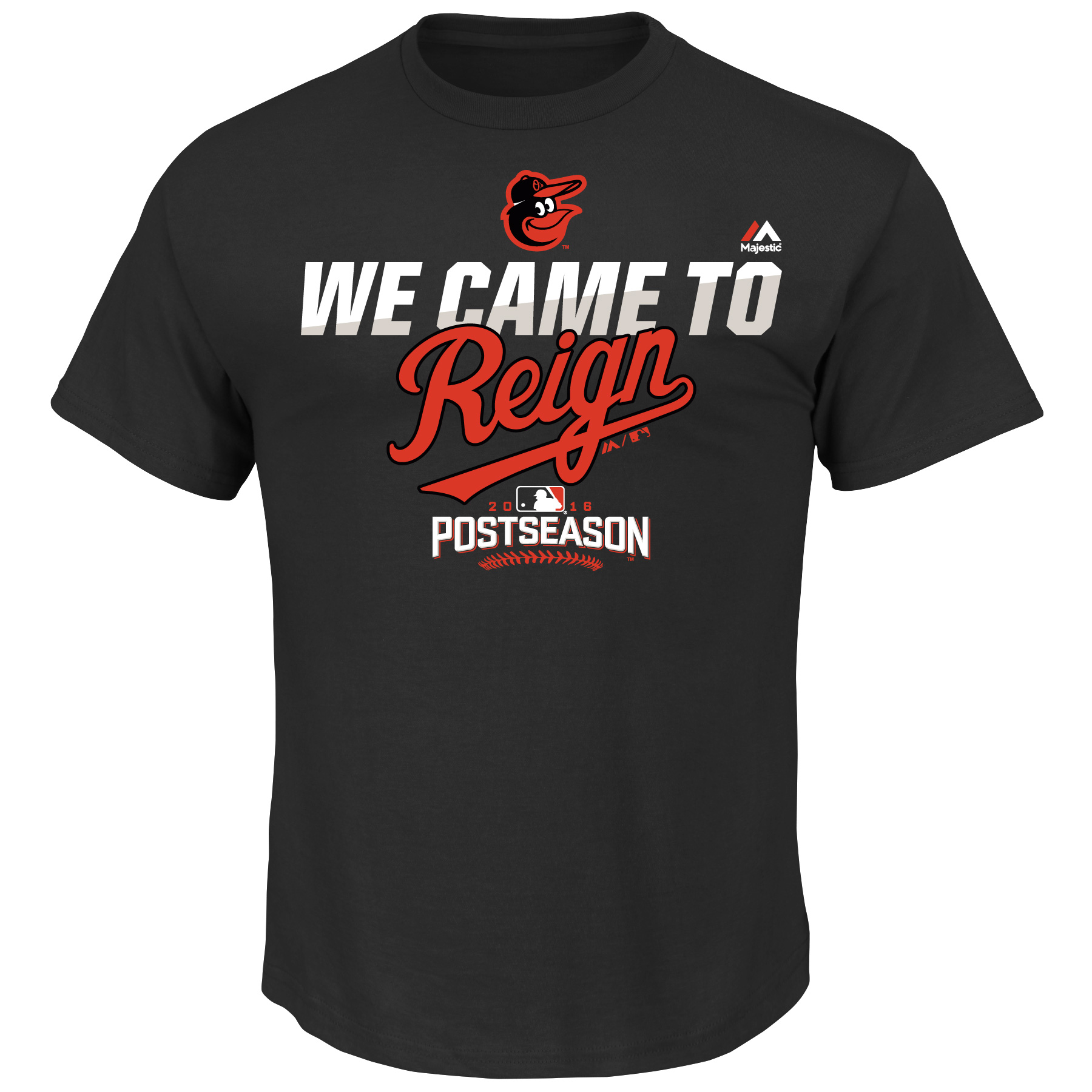 Baltimore Orioles Majestic Youth 2016 Postseason We Came to Reign Authentic Collection Participant T-Shirt - Black
