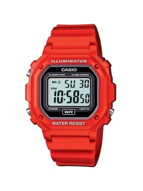 Casio Men's F-108WHC-4A Classic Red Resin Band Watch