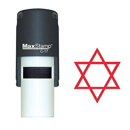Self Inking Hanukkah Rubber Stamp - STAR OF DAVID (55317-R)