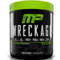 MusclePharm Wreckage Pre Workout Powder, Fruit Punch, 25 Servings