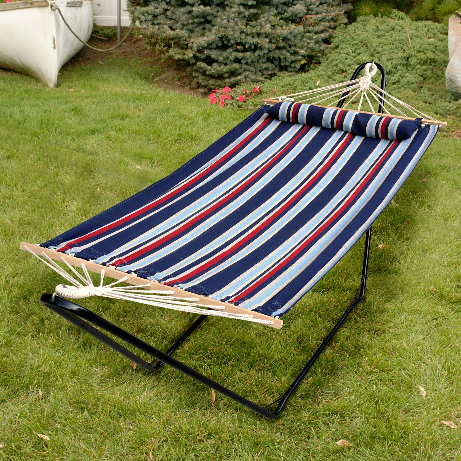 "Bliss 48"" Tequila Sunrise Hammock with Pillow, Patriot"