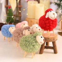 Cute Plush Animals Toys Wool Felt Sheep Plush Toys Nursery Rhyme Lamb Animated Stuffed Animal Plush