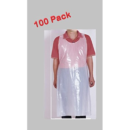 White Disposable Poly Aprons Waterproof