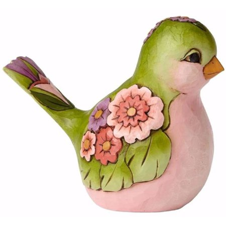 Jim Shore HWC Bright and Beautiful Green Floral Bird Figurine 4056960 Animal New