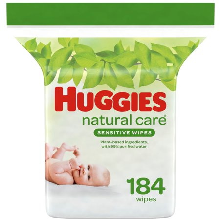 Huggies Natural Care Aloe Baby Wipes, Unscented, 1 Refill Pack (184 Total Wipes)