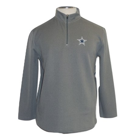 Dallas Cowboys Mens Jackets - Dallas Cowboys Mens Charcoal Premium Quarter-Zip Jacket