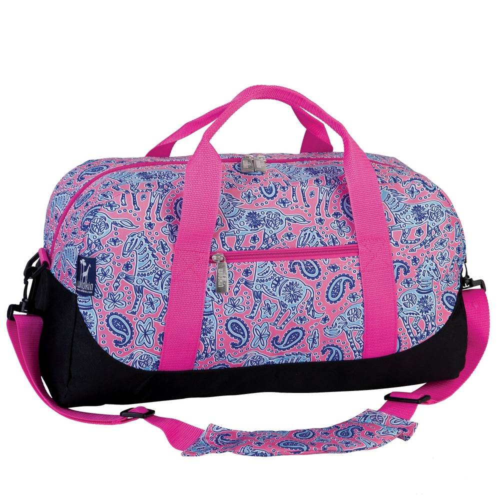 Watercolor Ponies Pink Duffel Bag