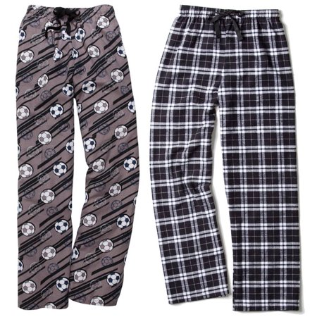 Set  2 Boxercraft Flannel Pants   10  Off Coupon For A Future Purchase With Us  Adult Sizes  Soccer   Black White M
