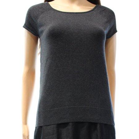 - Lauren Ralph Lauren NEW Gray Heather Women's Size Large L Knit Top Silk