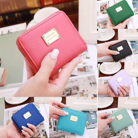 Fashion Women Short Wallet Card Holder PU Leather Coin Bag Money Purse Handbag