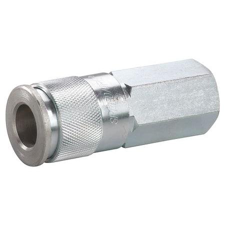 Speedaire 30E528 Brass/Steel Quick Coupler Body 250 (Faucet Quick Coupler)
