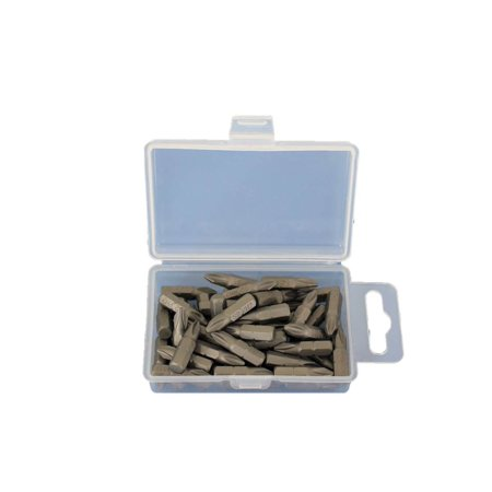 Square Recess Insert Screwdriver Bits - TEMO 50 pc PH2 Phillips Screwdriver Impact Ready 1 inch (25mm) Length Insert Bits hex shank with quick release slot