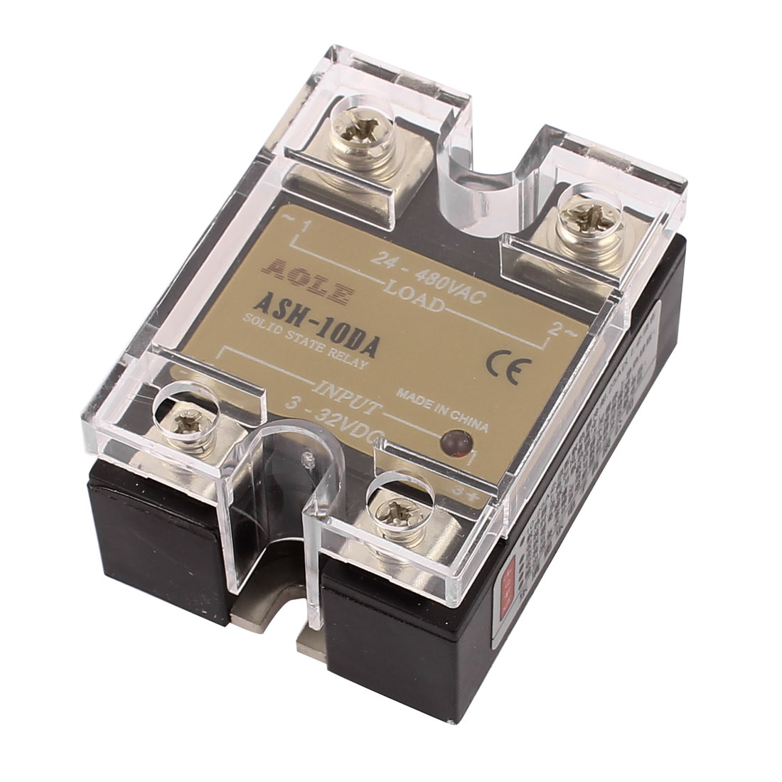 ASH-10DA 3-32VDC to 480VAC 10A Electric Single Phase Solid State DC to  Relay