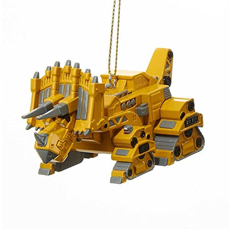 Dino Trux Ornaments (Rhino Yellow) - Dinosaur Ornament