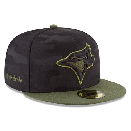 buy online a7836 9e72b Toronto Blue Jays New Era 2018 Memorial Day On-Field 59FIFTY Fitted Hat -  Black - Walmart.com