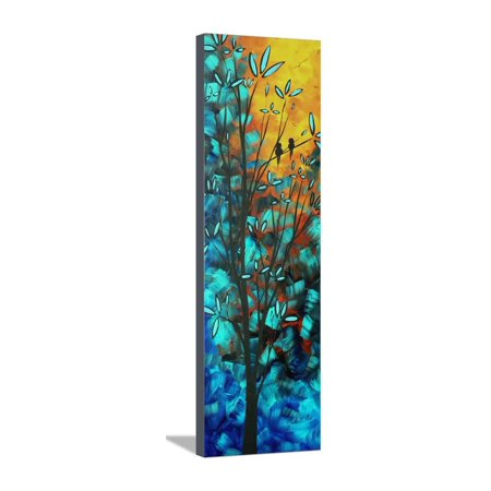 Love Is In The Air Colorful Bird Painting Stretched Canvas Print Wall Art By Megan Aroon