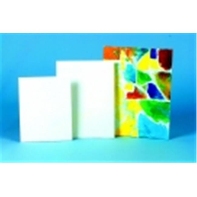 Sax 16 x 20 in. Acid-Free Double-Primed Canvas Panel Classroom Pack - White, Pack 36