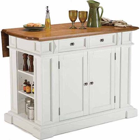 Home Styles Traditions Kitchen Island, White/Distressed Oak ...