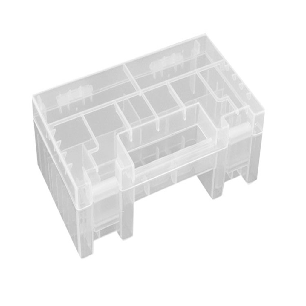 Hard Plastic Case Cover Holder For AA AAA Battery Organizer Storage Box E6X2