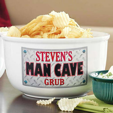 Personalized Man Cave Treat Bowl - Personalized Popcorn Bowl