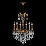 "Worldwide Lighting W83333b19 Versailles 6 Light 1 Tier 19"" Antique Bronze Chande - Bronze"