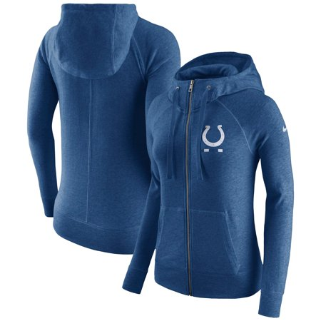 Indianapolis Colts Nike Women's Gym Vintage Full-Zip Hoodie - Royal (Kobe Nike Hoodie)