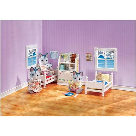 Calico critters children 39 s bedroom set best dollhouses - Calico critters deluxe living room set ...