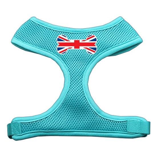 Bone Flag UK Screen Print Soft Mesh Harness Aqua Large