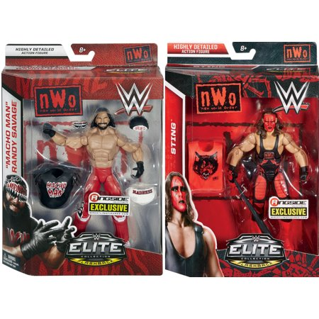 Rings Sting Scabbard (Package Deal - NWO Wolfpac (Sting & Macho Man Randy Savage) - Ringside Exclusives Toy Wrestling Action Figures)
