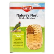 "Kaytee Nature`s Nest Finch - Bamboo Nest 3.75""L x 3.75""W x 4.5""H"